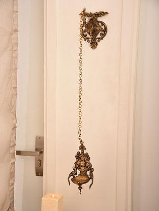 Brass Hanger Chain Wall Lamp (L- 32in, W-6.1in)