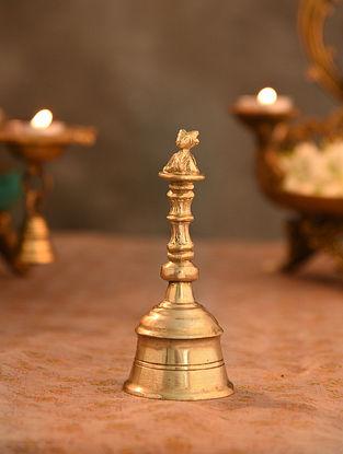 Brass Aarti Bell (L- 2.1in, W-2.1in, H-5in)