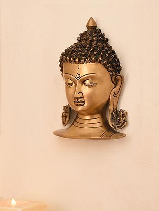 Brass Buddha Idol Wall Hanging (L- 9in, W-5.7in)