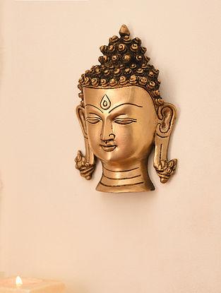 Brass Buddha Idol Wall Hanging (L- 7in, W-4.7in)