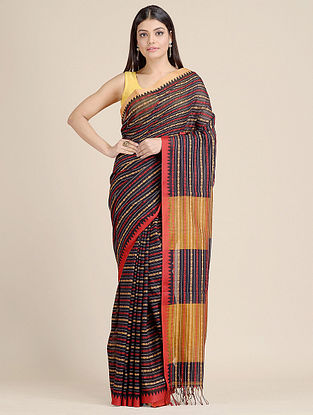 Maroon Handwoven  Cotton Saree