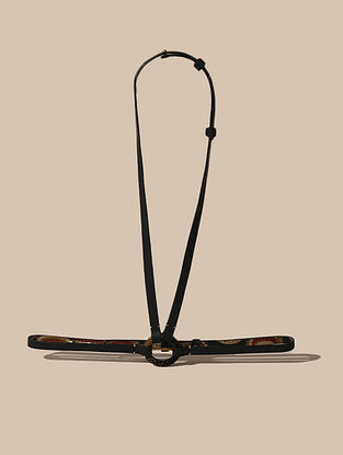 Black Handcrafted Leather Belt