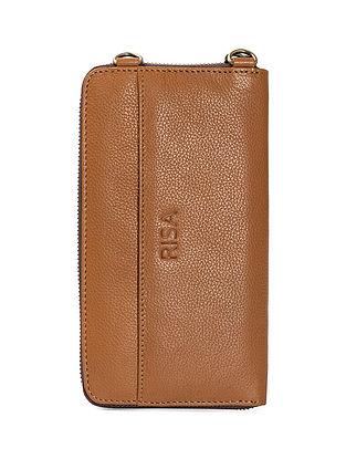Tan Handcrafted Genuine Leather SlingBag