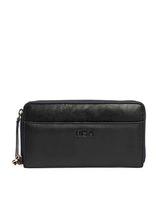 Black Handcrafted Genuine Leather Pouch