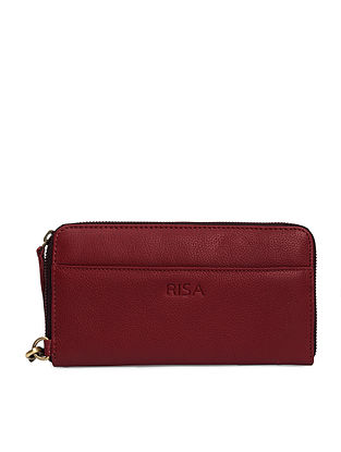 Cherry Handcrafted Genuine Leather Pouch