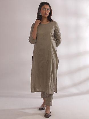 Gul Sage Green Chikankari Cotton Kurta with Pants