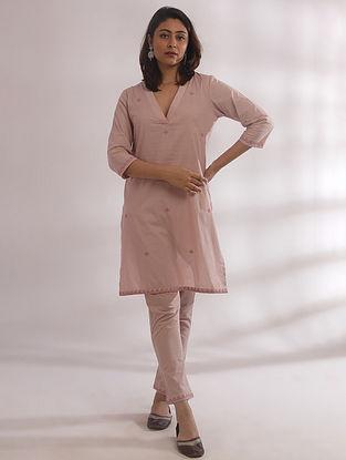 Kali Nude Pink Chikankari Cotton Kurta