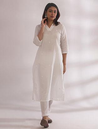 Kali White Chikankari Cotton Kurta with Pants