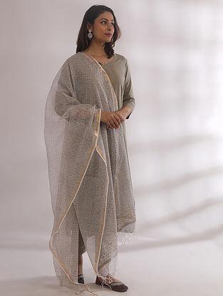 Tarkash Sage Green Chikankari Cotton Kurta with Pants and Dupatta