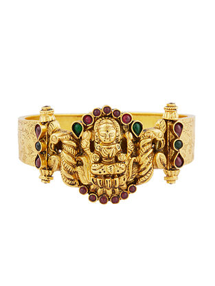 Gold Tone Sterling Silver Openable Kada (Size: 2/6)