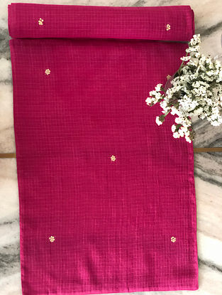 Fuschia Kota Table Mats with Sequence Details (Set of 2) (L- 19in x W- 13in)