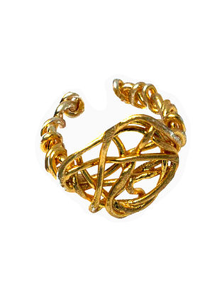 Gold Tone Handcrafted Ring