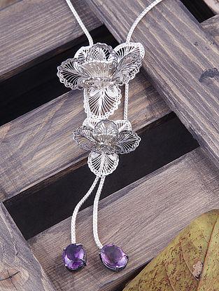 Purple Filigree Silver Pendant