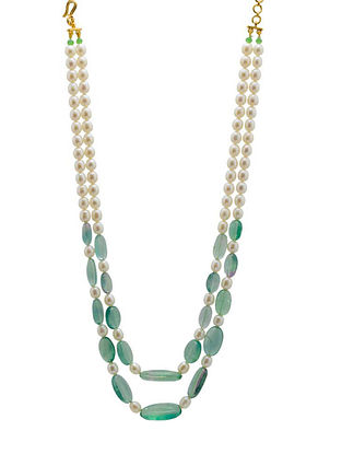 Turquoise Ivory Silver Necklace
