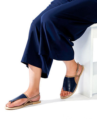Blue Nude Handcrafted Genuine Leather Sandals