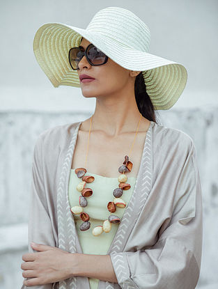 Cream Brown Handcrafted Necklace