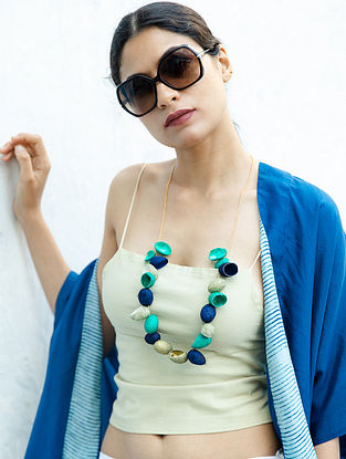 Blue Grey Handcrafted Necklace