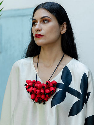 Red Black Handcrafted Necklace