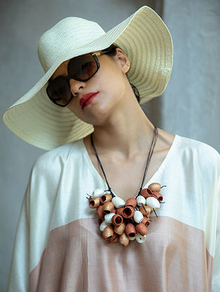 Brown White Handcrafted Necklace