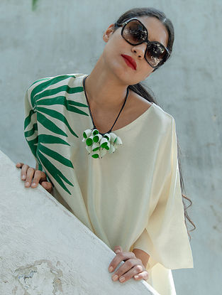 Green White Handcrafted Necklace