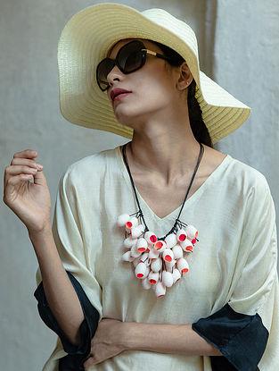 Orange White Handcrafted Necklace