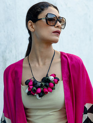 Pink Black Handcrafted Necklace
