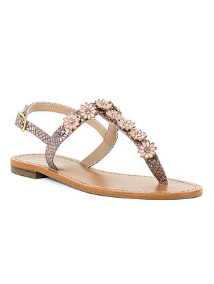 Pink Handcrafted Leather Sandals