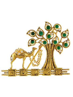 Gold Plated Silver Brooch