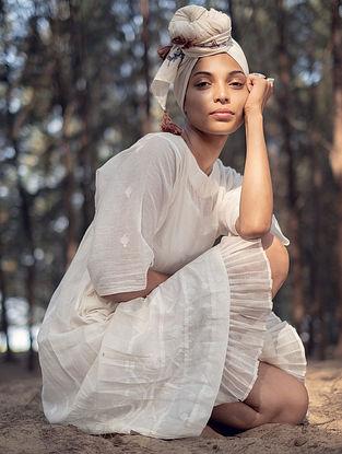 Ivory Handwoven Cotton Dress