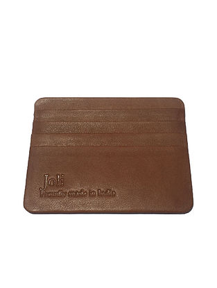 Brown Handcrafted Leather Card Holder