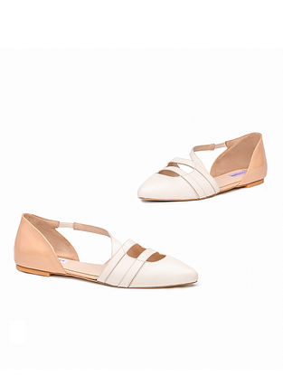 Ivory Pink Handcrafted Genuine Leather Mules