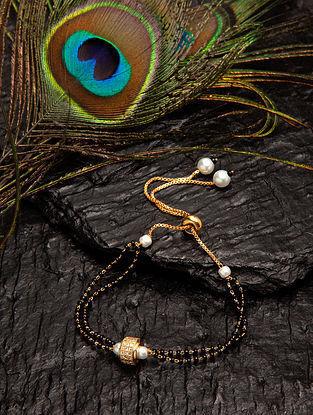 Black White Beaded Mangalsutra Bracelet