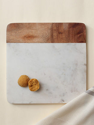 Brown Marble Cheese Platter (L-10in, W-10in,H-0.59in)