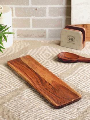 Acacia Wood Triose Platter (L- 16.5in, W- 5in, H- 0.75in)