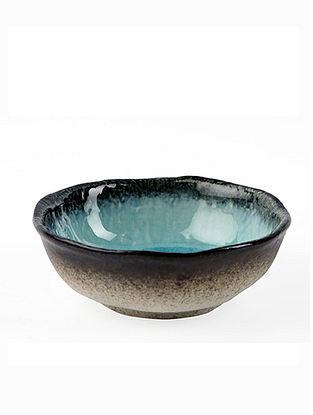 Aqua Blue Ceramic Mizu Bowl (D-5in, H-2in)