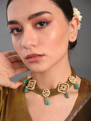Multicolored Gold Tone Kundan Necklace