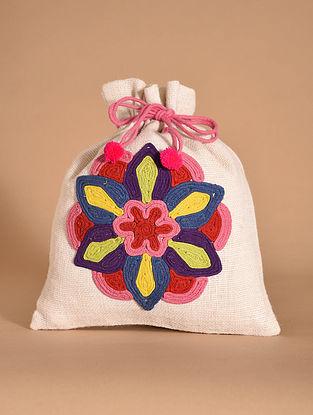 Multicolored Handmade Jute Potli