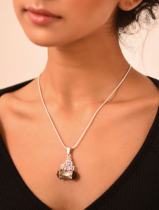 Tribal Silver Chain with Pendant