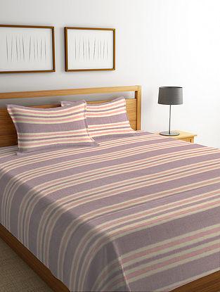 Multicolor Striped Cotton Bed Cover Set