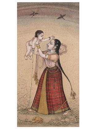 Shri Mahaveer Swamis Mother & Child Digital Print On Paper