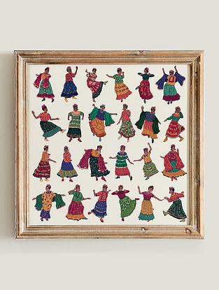 Multicolour Frida Swing Fine Art Print