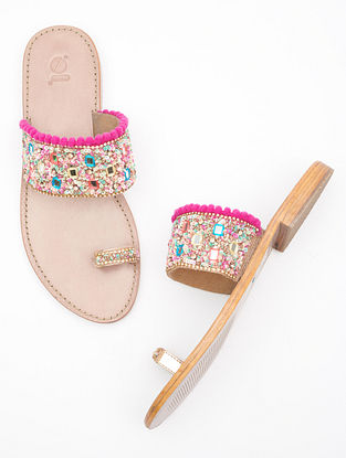 Multicolored Handcrafted Leather Flats