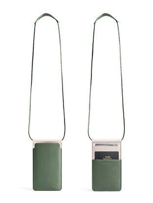 Green Handcrafted Vegan Leather Sling Bag