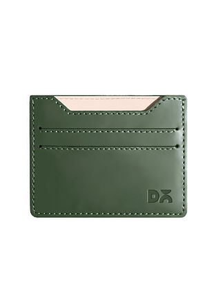 Green Handcrafted Vegan Leather Card Case