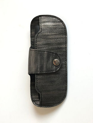 Black Handcrafted Faux Leather Spectacle Case