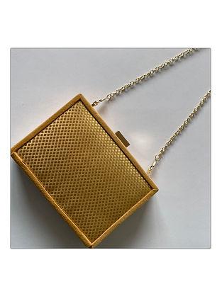 Gold Handcrafted Brocade Silk Clutch