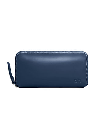 Blue Handcrafted Vegan Leather Wallet