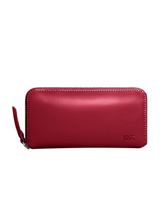 Red Handcrafted Vegan Leather Wallet