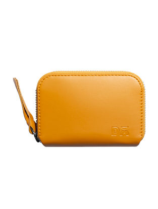 Yellow Handcrafted Vegan Leather Wallet