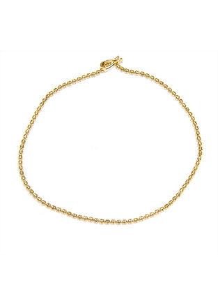 Gold Tone Sterling Silver Anklet